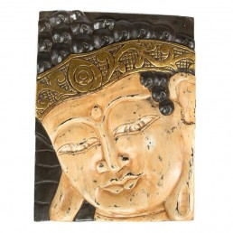 Buddha Panel – Cream Gold