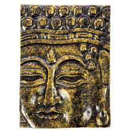 Buddha Panel – Black Gold