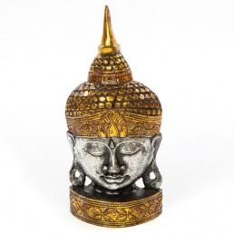 Buddha Mask 50cm Silver