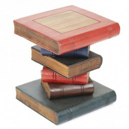 Book Stack Table Painted