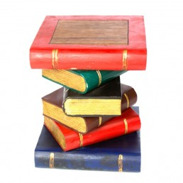 Book Stack Table – Painted Gold