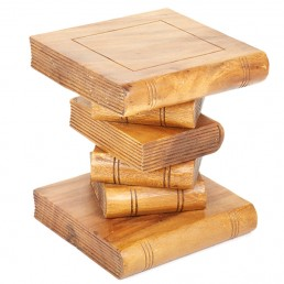 Book Stack Table Small Waxed