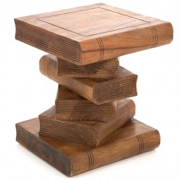 Book Stack Table Waxed
