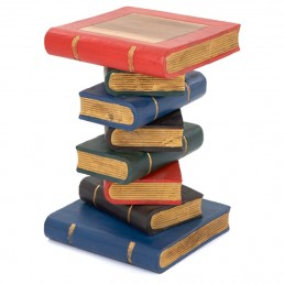 Book Stack Table  Painted Gold