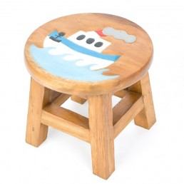 Childs Stool – Blue Boat