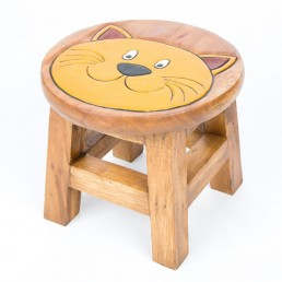 Childs Stool – Cat Face