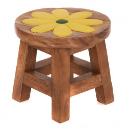Childs Stool – Yellow Flower