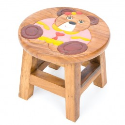 Childs Stool – Teddy Pink Shirt