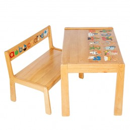 ABC Bench & Table Set