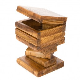 Book Stack Storage Table Waxed