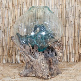 Glass Sculpture On Wood – XXL