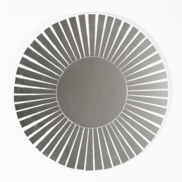 Round Mosaic Mirror Striped