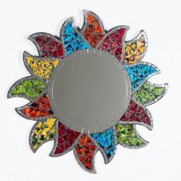 Round Mirror 30cm Flower Sun