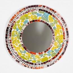 Round Mosaic Mirror Multi Colur