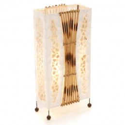 Aquarium Gold Shell Rattan Lamp