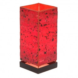 Square Mosaic Lamp Red