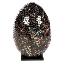 Mosaic Egg Lamp – Black