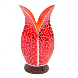 Mosaic Tulip Lamp – Red