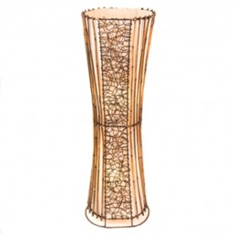 Oval Rattan & Wicker Floor Lamp