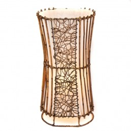 Oval Rattan & Wicker Table Lamp