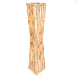 Plain Rattan Flare Floor Lamp