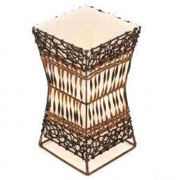 Small Wicker and Rattan Table Lamp