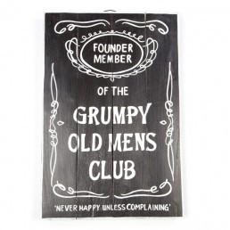 Grumpy Old Club Wall Hanging