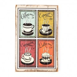 4 Pane Coffee Wall Hanging