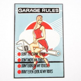 Garage Rules Wall Hanging