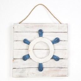 Boat Wheel Wall Hanging Plaque