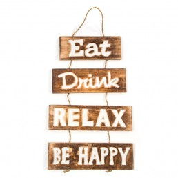 Eat, Drink, Relax Wall Hanging
