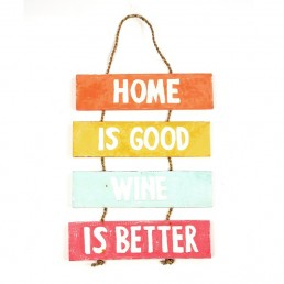 Home & Wine Wall Hanging