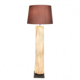 Bark Floor Lamp With Shade