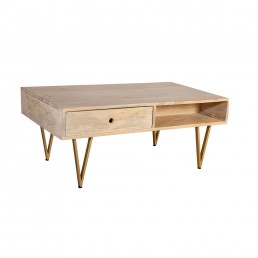 Light Gold Coffee Table