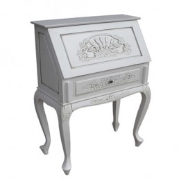 Lindenwood White Carved Bureau