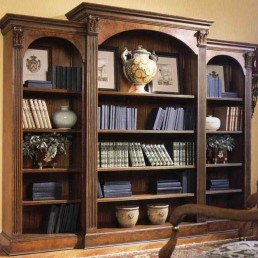 Walnut Triple Bookcase
