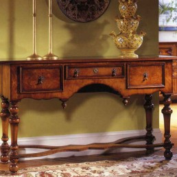 Walnut William & Mary Console