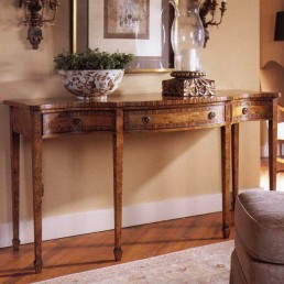 Walnut Serpentine Console