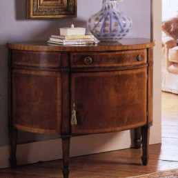 Walnut Demi Lune Chest