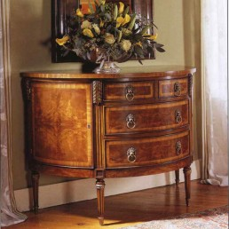 Walnut Demilune Chest