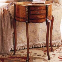 Walnut Demilune Table
