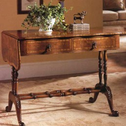 Walnut Drop Leaf Library Table