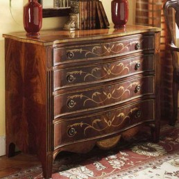 Walnut English Serpentine Chest