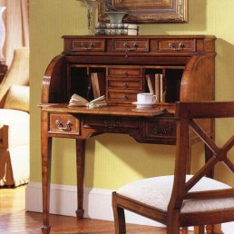 Walnut Roll Top Secretary Desk