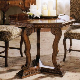 Walnut Tri Leg Tuscan Table