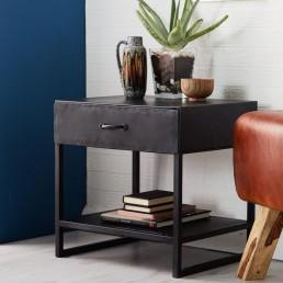 Metalica Iron Lamp Table