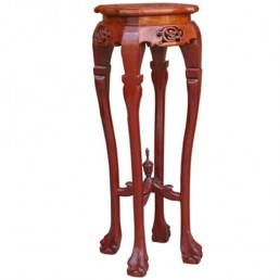 Circular Rosewood Plant Stand