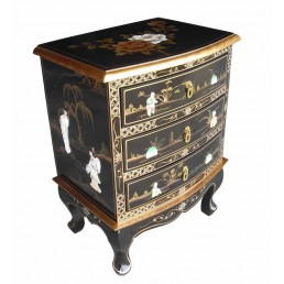 Chinese Black Lacquer Small Chest
