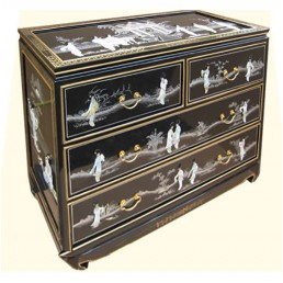 Chinese Black Lacquer Chest Big