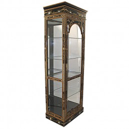 Chinese Black Display Cabinet Tall